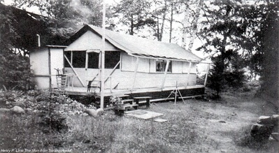 Platform tents historic saranac lake localwiki for Tent platform construction