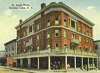 Hotel St Regis Clearly The Same Photograph As One At Left Hand Tinted And Retouched To Remove Wires Light
