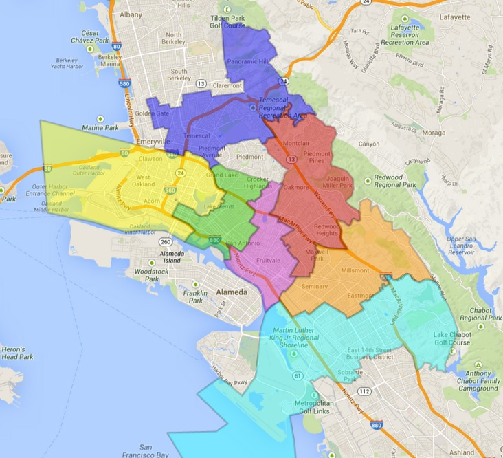 City Council Districts - Oakland - LocalWiki on