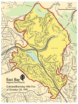 Cal Oes Fire Map.Oakland Firestorm 1991 Oakland Localwiki