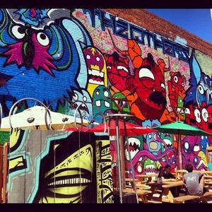 The Telegraph Beer Garden   Opposite Wall (diwu118) Artists: Nite Owl,  Reggie Warlock And?