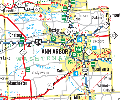 Map Ann Arbor MDOT State Highway Map   Ann Arbor   LocalWiki Map Ann Arbor