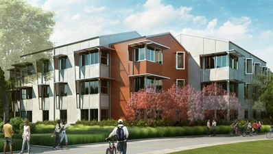 An Artist S Rendering Of Apartment Building