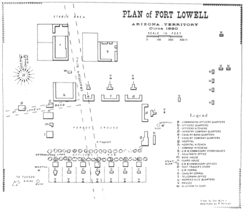 Fort lowell park ramada map