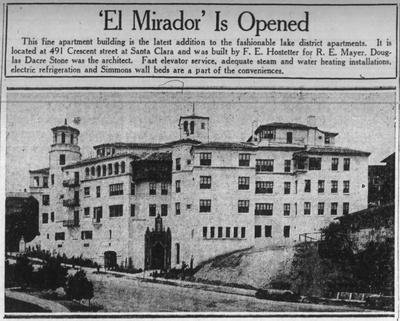 El Mirador Apartments Oakland Localwiki