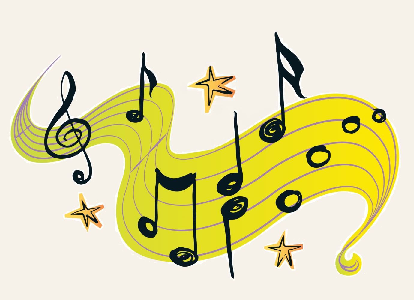 music notes wallpaper
