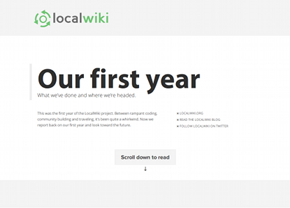 our first year localwiki blog